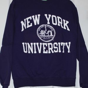 NEW YORK UNIVERSITY PURPLE CREWNECK SWEATSHIRT